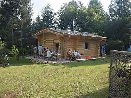 our log home in germany log homes log house log shell log cabins. Black Bedroom Furniture Sets. Home Design Ideas