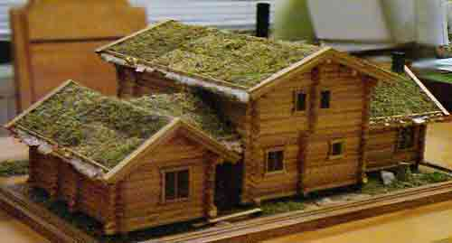 Макет бревенчатого дома 182