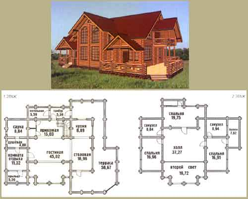 Projects of log homes house design for House project online
