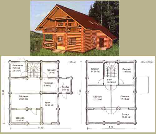 Projects of log homes house design for Projects of houses